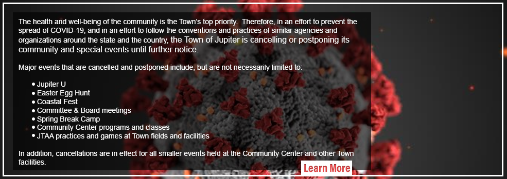 Link to additional coronavirus information regarding town activities that are cancelled