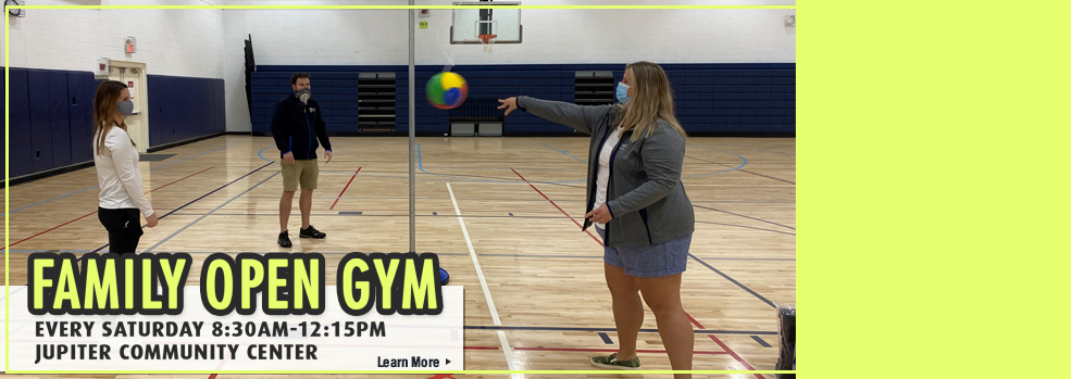 Link to learn more about family open gym time
