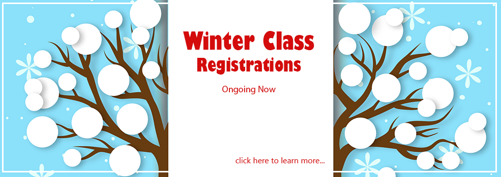 sign up for our winter classes